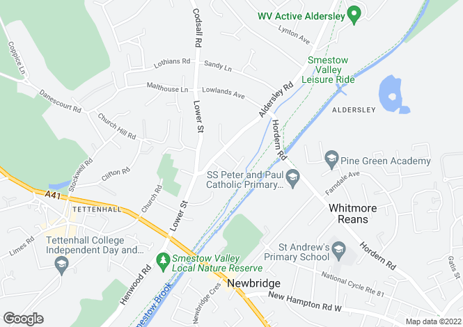 Map for VICTORIA ROAD, TETTENHALL, WOLVERHAMPTON