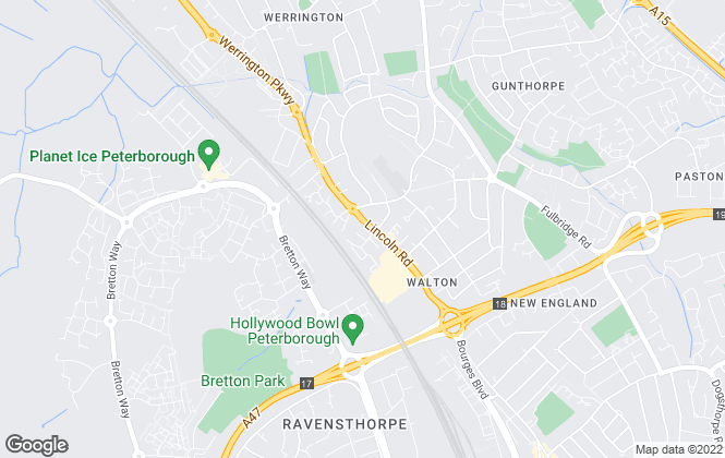 Map for Belvoir, Peterborough - Sales