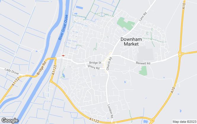 Map for Abbotts Lettings, Downham Market