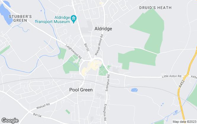 Map for Anchor Estates, Aldridge