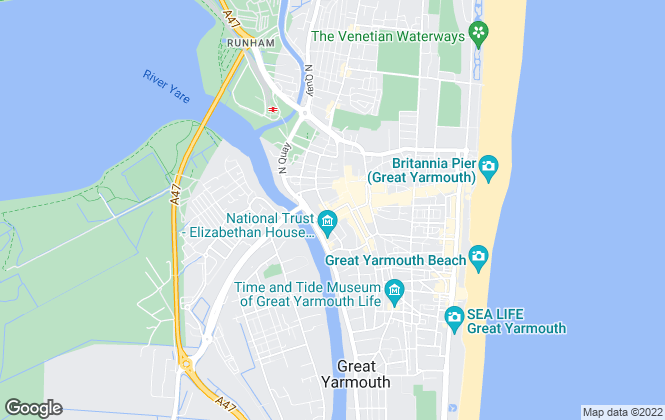 Map for Bycroft, Commercial- Great Yarmouth