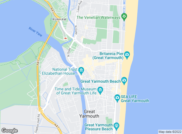 Map for Howards Estate Agents, Great Yarmouth