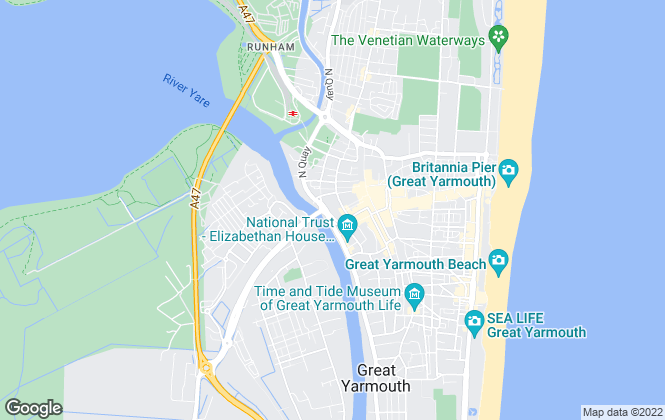 Map for Aldreds, Great Yarmouth - Lettings