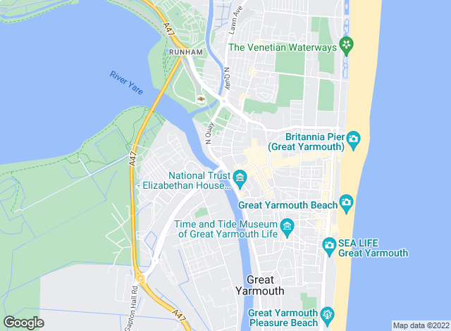 Map for Aldreds, Great Yarmouth