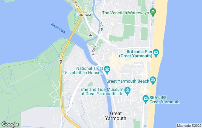 Map for Aldreds, Great Yarmouth - Commercial