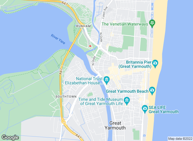 Map for William H. Brown, Great Yarmouth