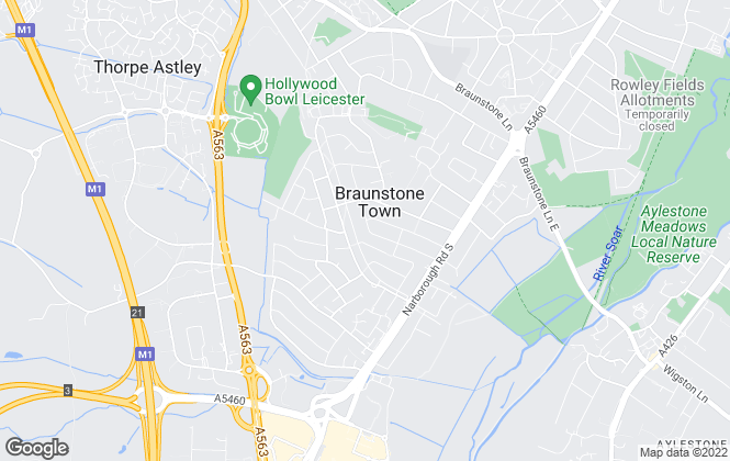 Map for Vincent's Estate Agent, Leicester