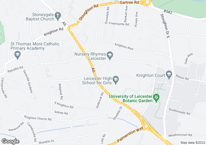 Map for Hendon Grange, London Road, Leicester, LE2 2PY