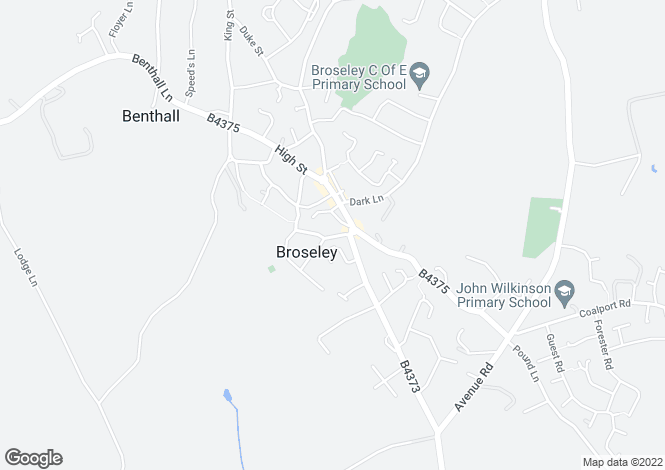 Map for Hockley Road, Broseley