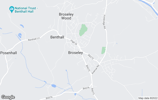 Map for Habitat Lettings, Broseley