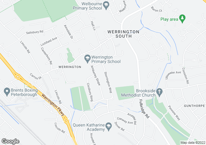 Map for Storrington Way, Werrington