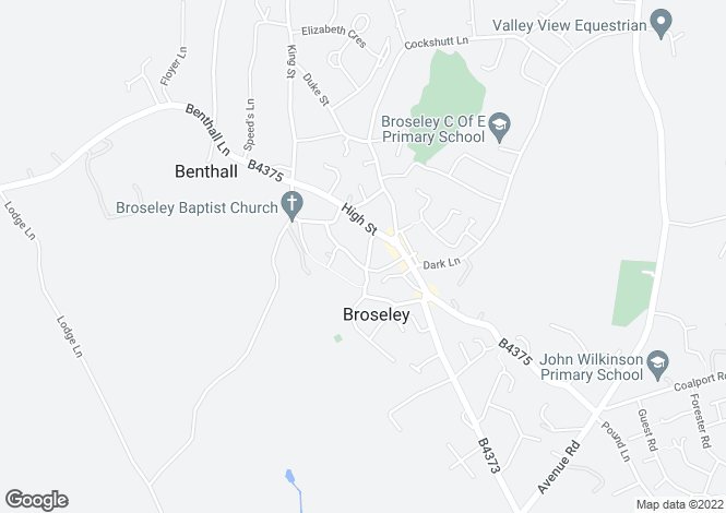Map for Swan Street, Broseley