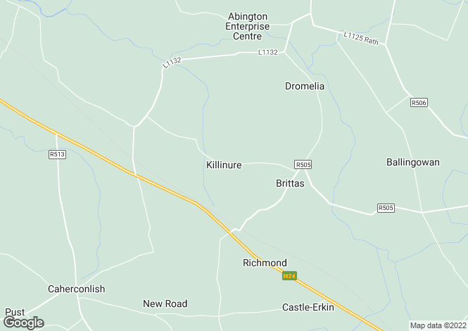 Map for Killinure, Brittas, Murroe, Co. Limerick