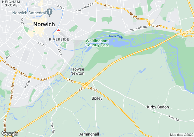 Map for Trowse, Norwich