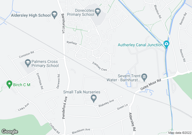 Map for Eastney Crescent, Wolverhampton WV8