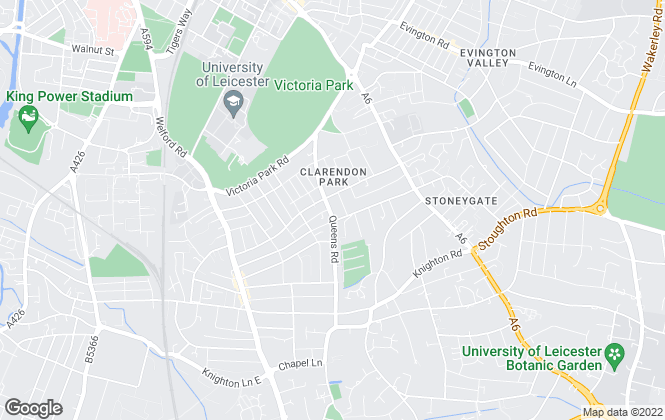 Map for Livingstone Property, Leicester