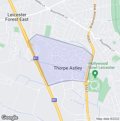 Map of property in Thorpe Astley