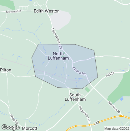 Map of property in North Luffenham