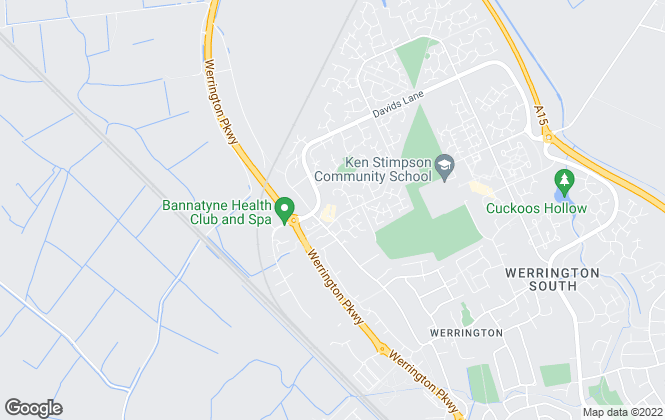Map for Sharman Quinney, Werrington