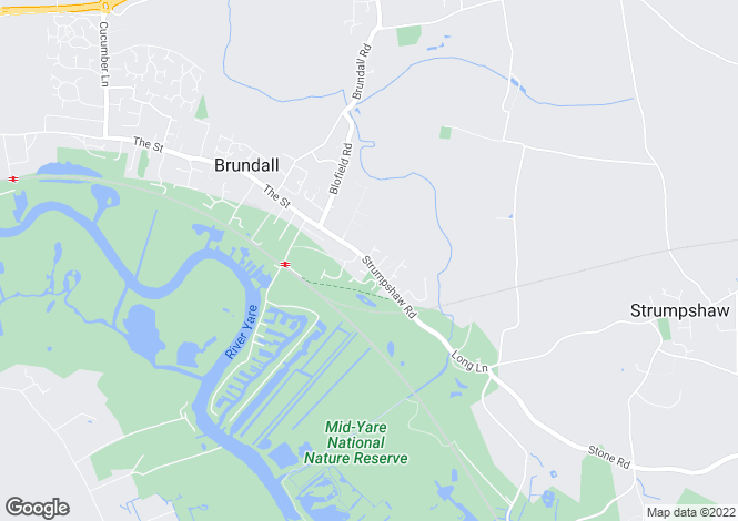 Map for Strumpshaw Road, Brundall, Norwich