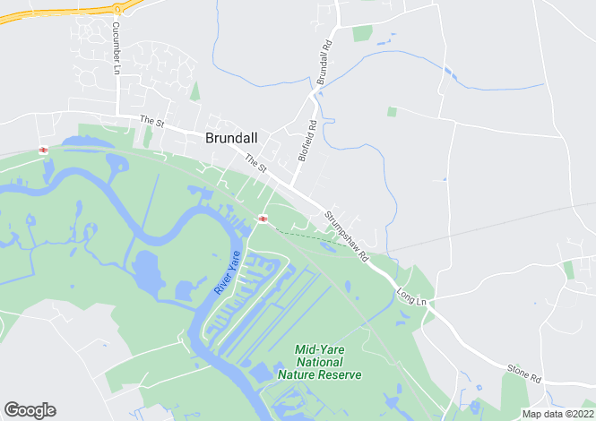 Map for Station New Road, Brundall, Norwich