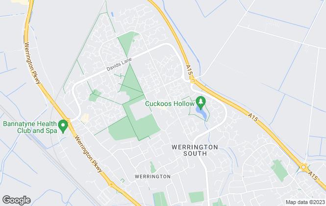 Map for Newton Fallowell, Werrington