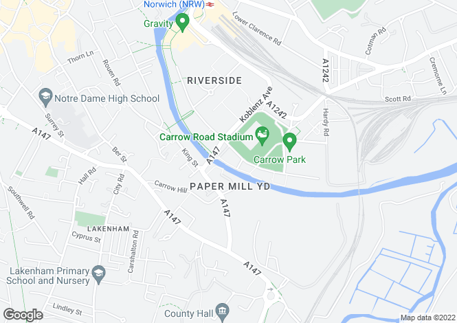 Map for Ashman Bank<br>Geoffrey Watling Way, Norwich