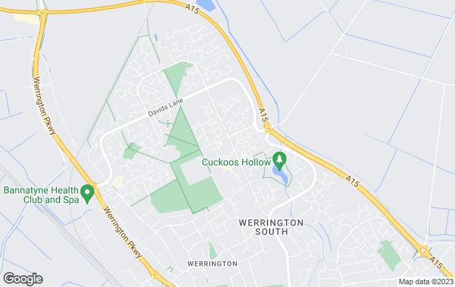 Map for Connells, Werrington