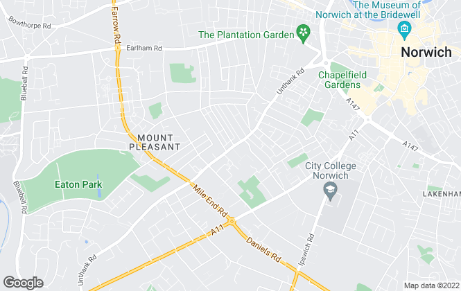 Map for Langford, Norwich