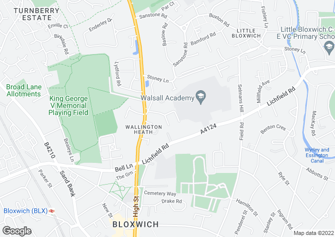Map for Stafford Close, Bloxwich