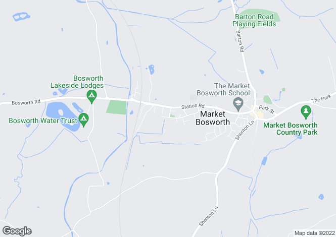 Map for Heath Road, Market Bosworth, Market Bosworth
