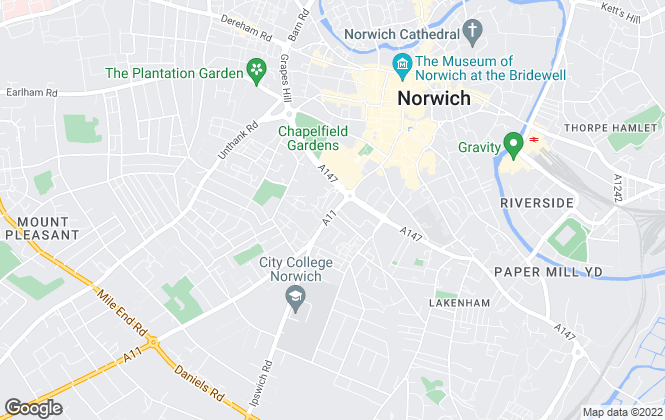 Map for Humberstones, Norwich