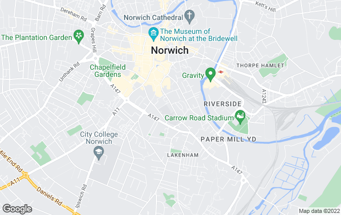 Map for Robert Moy Estate & Letting Agents, Norwich