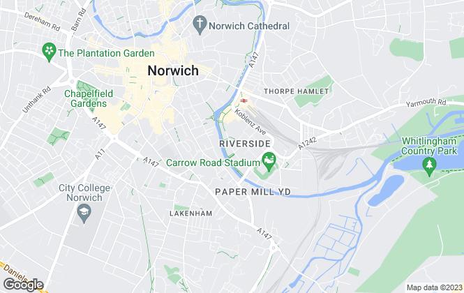 Map for Kings & Co, Norwich