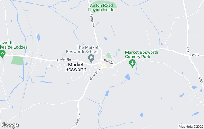 Map for Country Properties, Market Bosworth