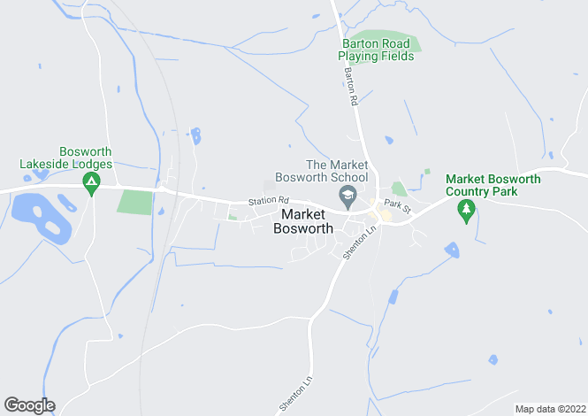 Map for Market Bosworth