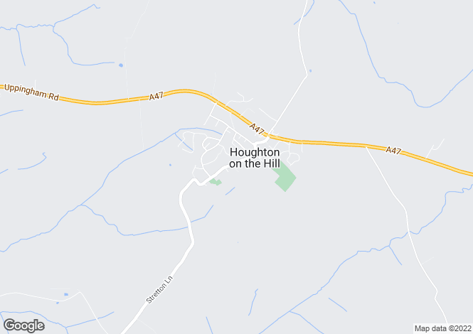 Map for Main Street, Houghton-On-The-Hill, Leicestershire