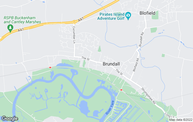 Map for Howards Estate Agents, Brundall