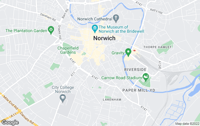 Map for Hunters, Norwich