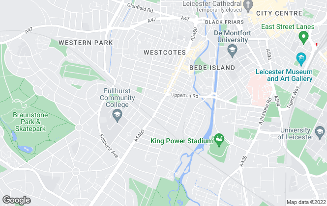 Map for Martin & Co, Leicester West - Lettings & Sales