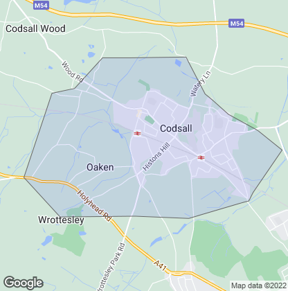 Map of property in Codsall