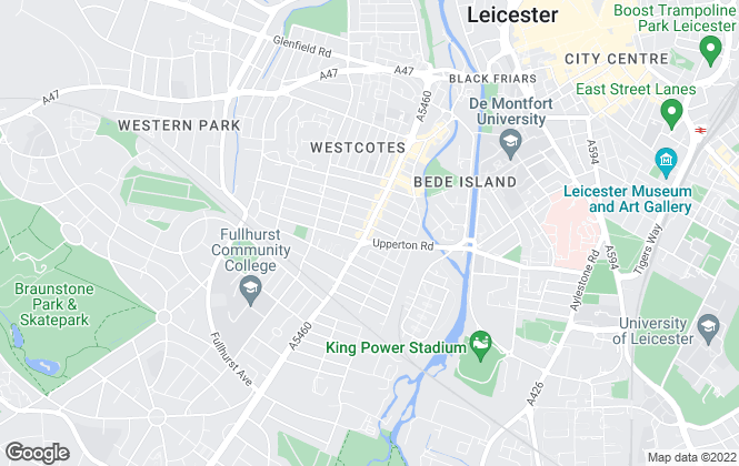 Map for Leicester Estates Management, Leicester