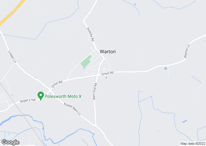 Map for Orton Road, Warton