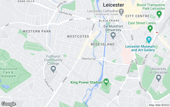 Map for Westcotes, Leicester