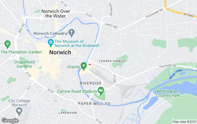 Map for House Revolution, Norwich
