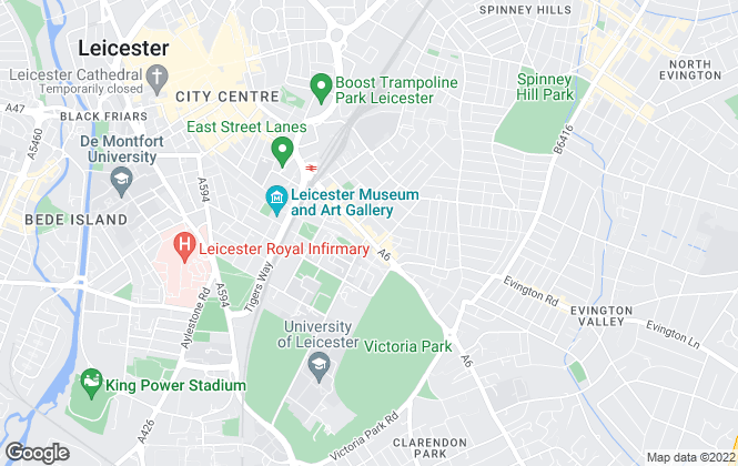 Map for Century Estate Agents, Leicester Sales
