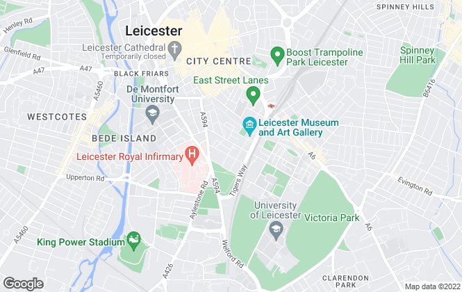 Map for My Student Digs, Leicester