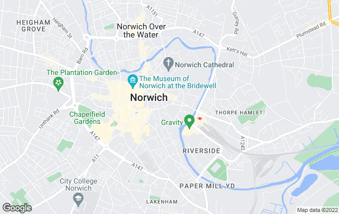 Map for Homes & Land, Norwich