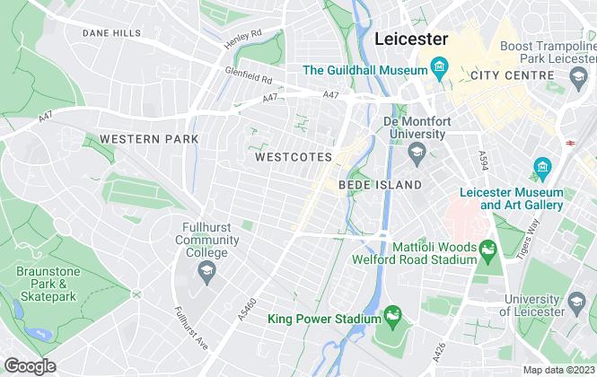 Map for Clarendon Estates, Leicester