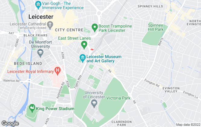 Map for IPS: Intelligent Estate Agency, Leicester